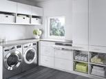 California Closets Laundry Room Tesoro Finish High Gloss White